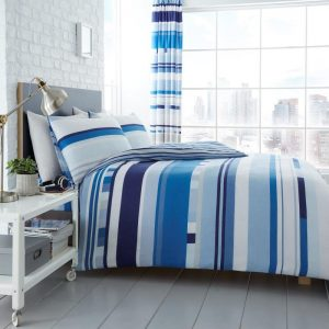 Chester Stripe Duvet Cover Blue