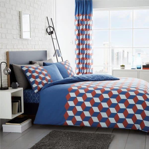 Cubix Duvet Cover Blue