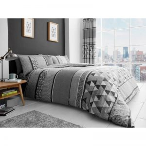 Madison Striped Duvet Cover Grey