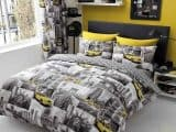 New York Patchy Double Duvet Cover