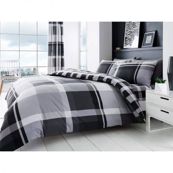 Waverly Check Duvet Cover Grey