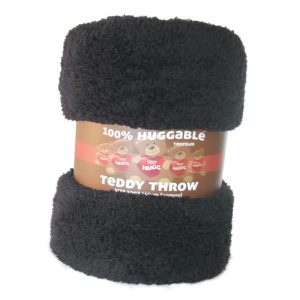 Teddy Throw Black