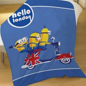 Despicable Me Minions Hello London Fleece Blanket