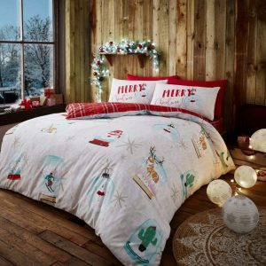 Christmas Snow Globe Duvet Cover
