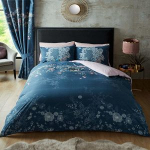 Bella Duvet Cover Set Navy