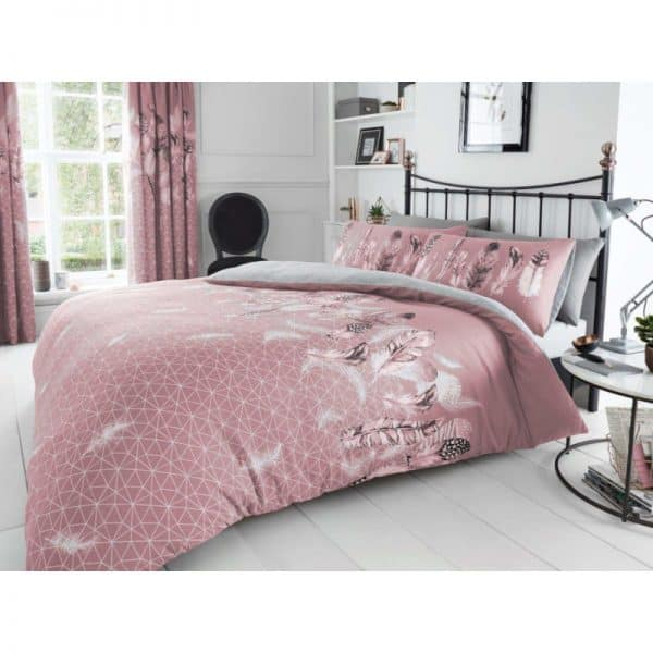 Feathers Duvet Cover Pink