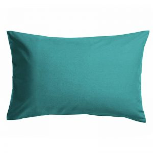Percale Weave Polycotton Pillow Case Teal