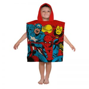 Marvel Comics Justice Hooded Poncho Front