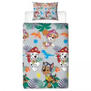 Paw Patrol Dino Single Duvet Cover Set Polyester Front
